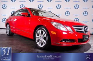 Certified Pre-Owned 2011 Mercedes-Benz E-Class E350 Rear Wheel Drive Coupe